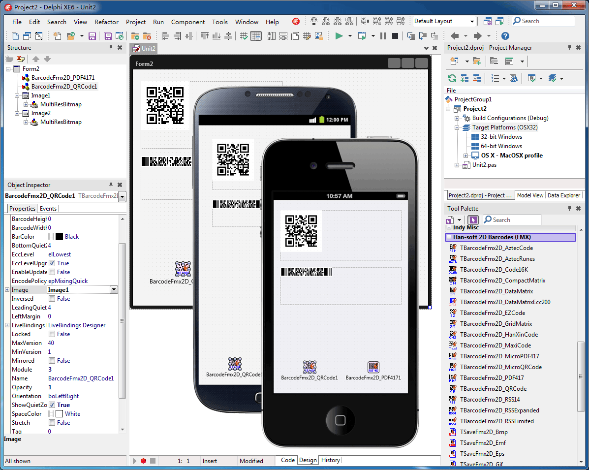 2D Barcode FMX Components Screen shot