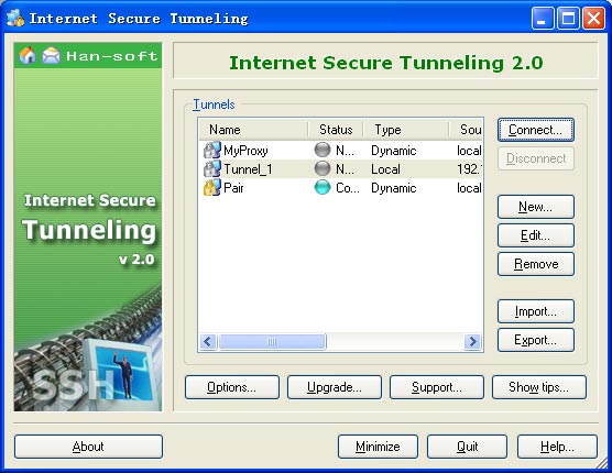 Click to view Internet Secure Tunneling 2.0.0.244 screenshot
